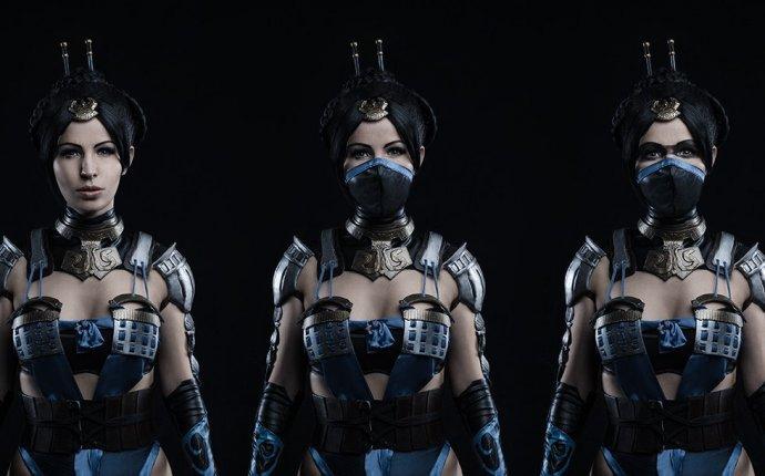 Косплей на Китану (Mortal Kombat X)