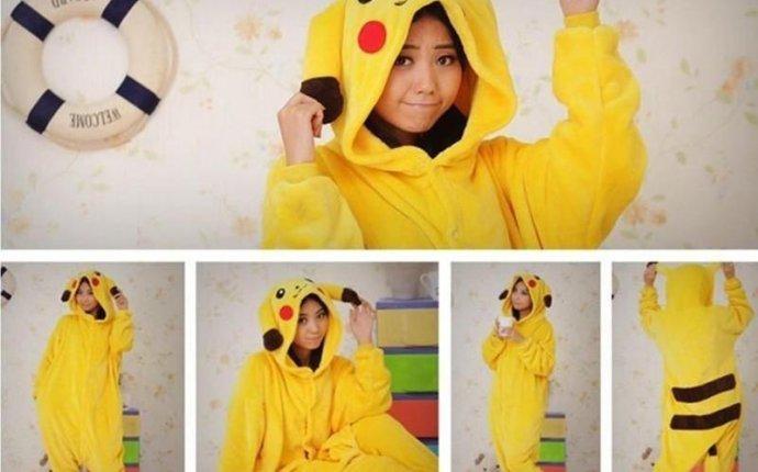 Купить Оптом Прекрасные Пикачу Моды Желтый Outfit Пижама Kigurumi